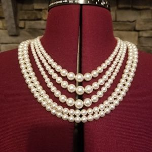 60s Sarah Coventry Convertible Pearl Necklace